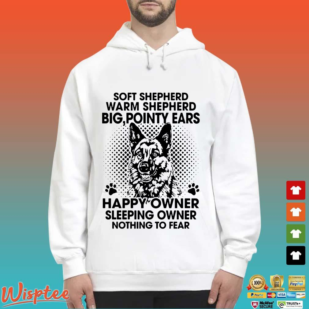 Soft shepherd warm shepherd dog pointy ears happy owner sleeping s Hoodie trang