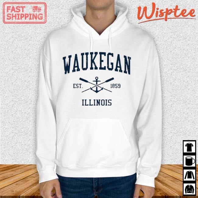 Waukegan Il Vintage Navy Crossed Oars And Boat Anchor Shirt hoodie trang