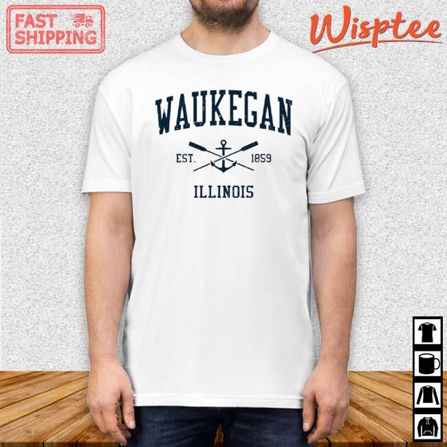 Waukegan Il Vintage Navy Crossed Oars And Boat Anchor Shirt