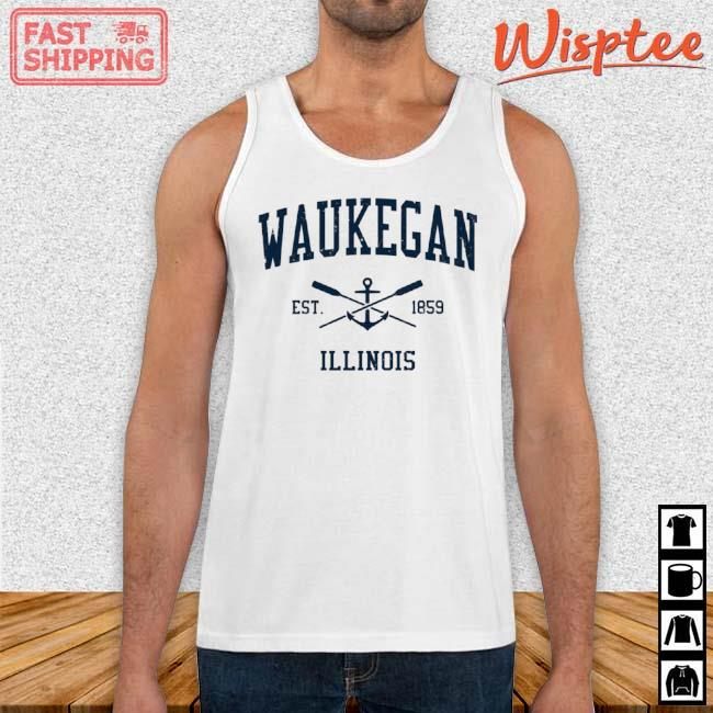 Waukegan Il Vintage Navy Crossed Oars And Boat Anchor Shirt Tank top