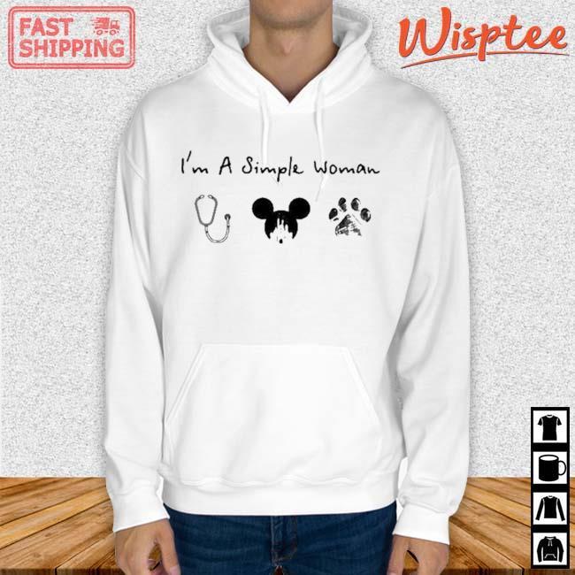 I'm A Simple Woman Nurse Mickey Dog Pet Shirt hoodie trang