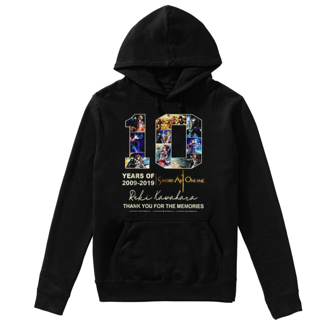 10 years of 2009 2019 Sword Art Online thank you for the memories Unisex Hoodie