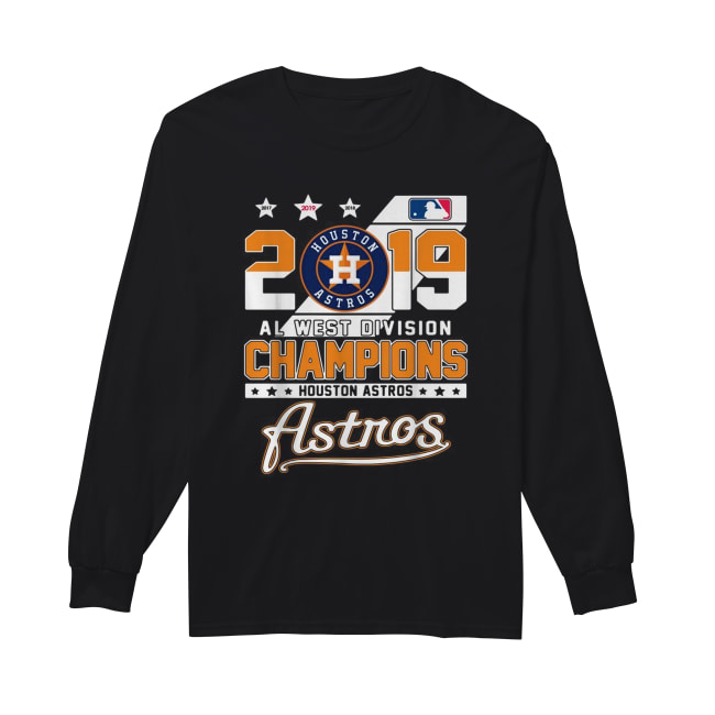 2019 Al west division Champions Houston Astros Long Sleeved T-shirt