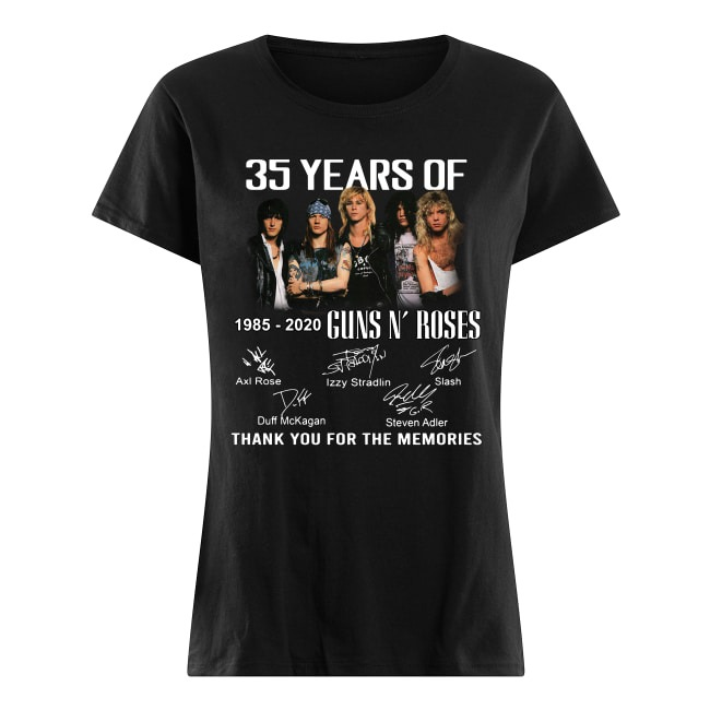35 Years Of 1985-2020 Guns N' Roses thank you for the memories Ladies