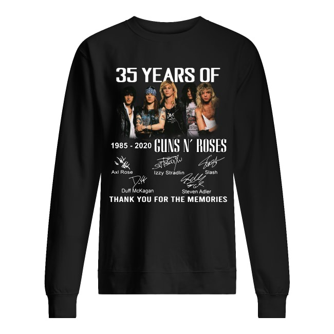 35 Years Of 1985-2020 Guns N' Roses thank you for the memories Sweater