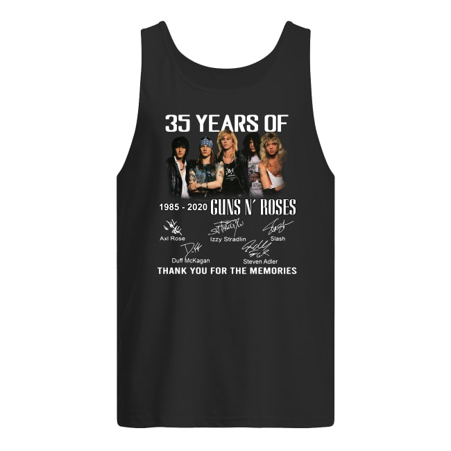 35 Years Of 1985-2020 Guns N' Roses thank you for the memories Tank top