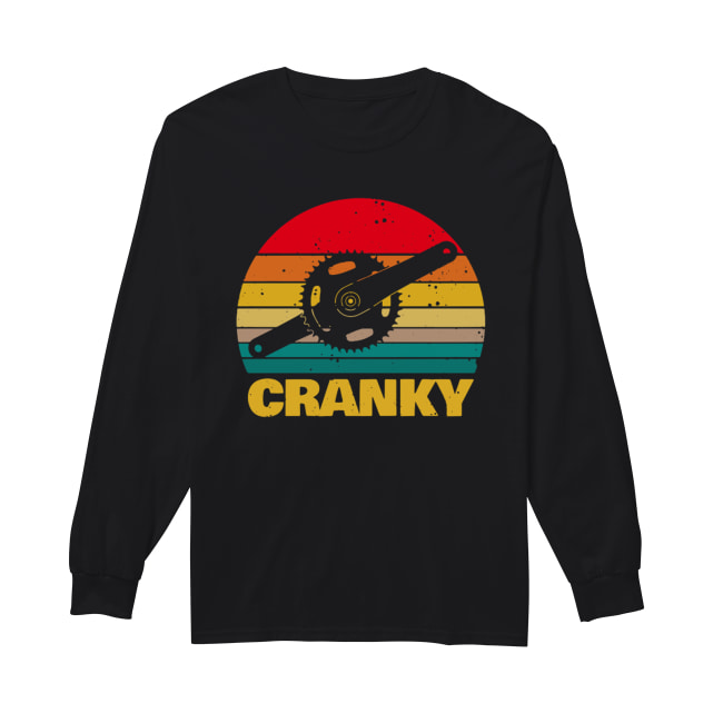 Bicycle Cranky vintage Long Sleeved T-shirt