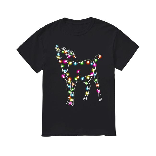 Goat Christmas lights Classic Men's T-shirt
