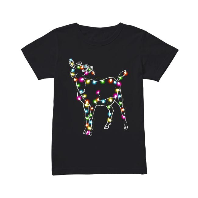 Goat Christmas lights Classic Women's T-shirt