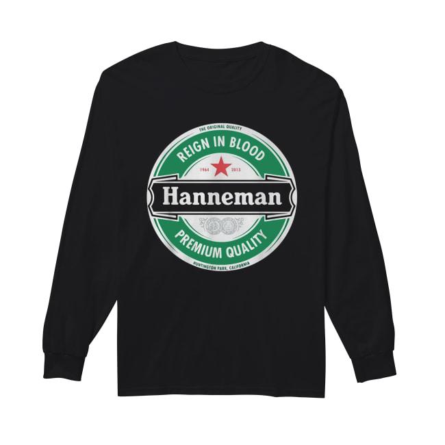 Hanneman Reign in Blood Jeff Hanneman Slayer Premium Quality Long Sleeved T-shirt