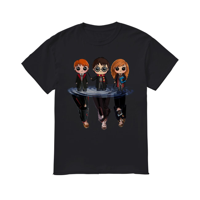 Harry Potter characters chibi water mirror reflection Classic Men's T-shirt