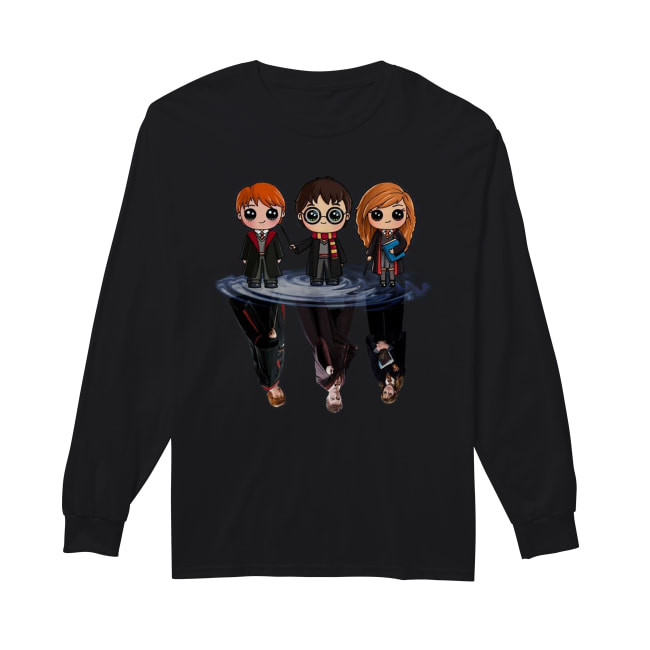 Harry Potter characters chibi water mirror reflection Long Sleeved T-shirt