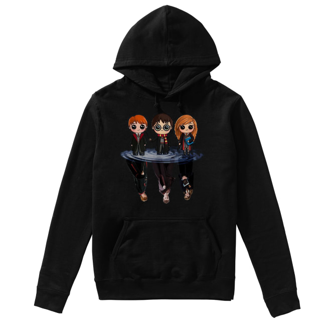 Harry Potter characters chibi water mirror reflection Unisex Hoodie