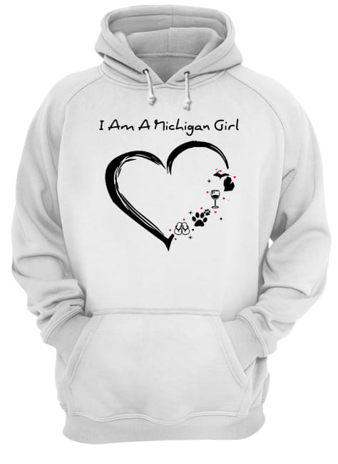 I am a Michigan girl I love Scuba diving wine paw dog and flip flop Unisex Hoodie