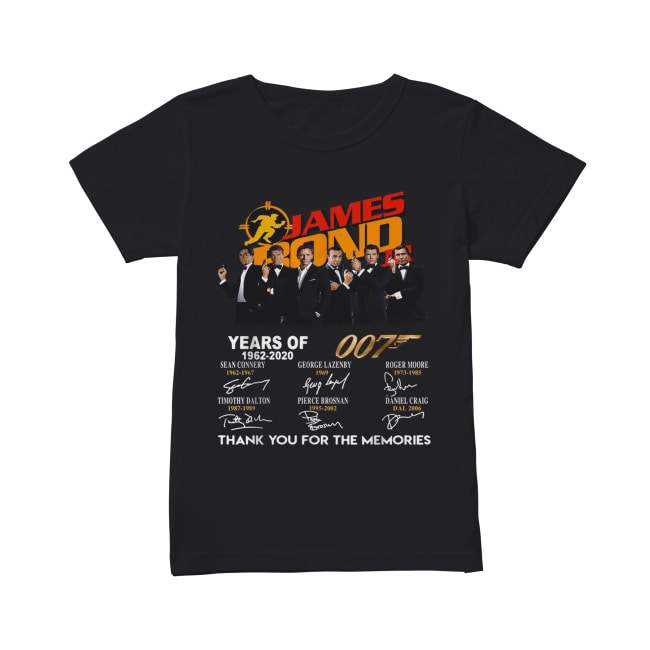 James Bond 50 Years Of 007 1962-2020 signatures Classic Women's T-shirt