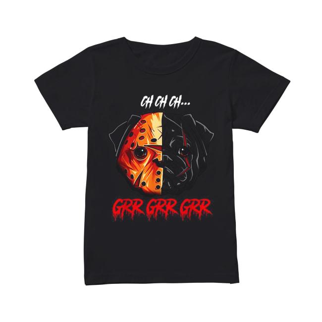 Jason Voorhees Pitbull Ch Ch Ch Grr Grr Grr Classic Women's T-shirt