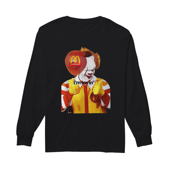 Mcdonald's I'm lovin' IT Pennywise Long Sleeved T-shirt