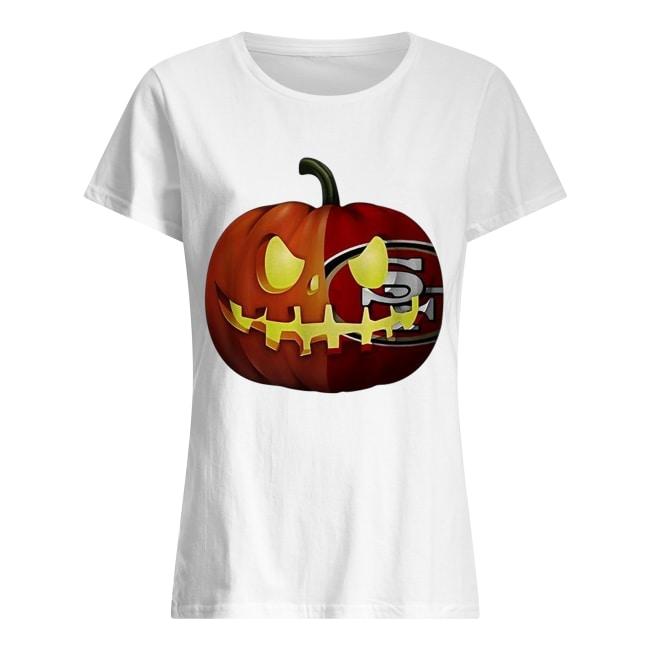 San Francisco 49ers pumpkin Halloween Classic Women's T-shirt
