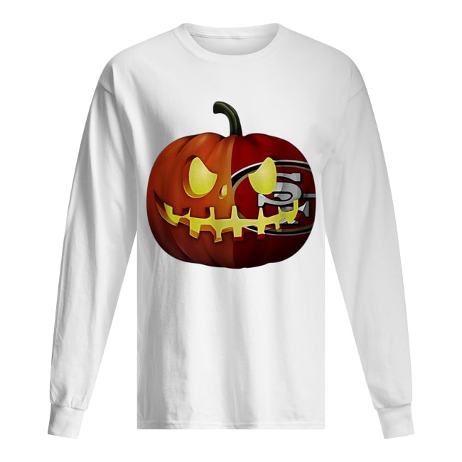 San Francisco 49ers pumpkin Halloween Long Sleeved T-shirt