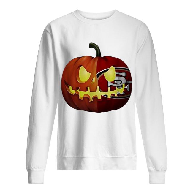 San Francisco 49ers pumpkin Halloween Unisex Sweatshirt