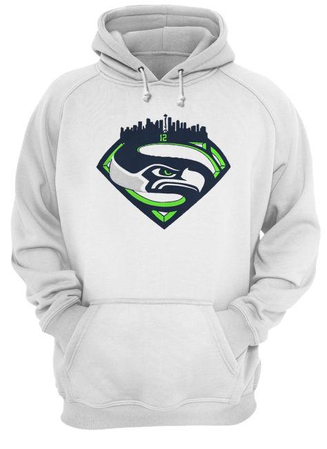 Seattle Seahawks Superman 12 Shirt Unisex Hoodie