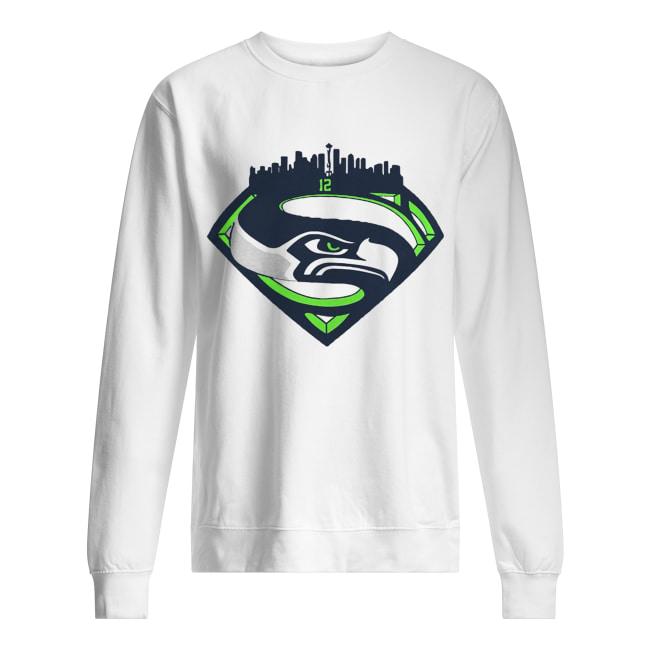 Seattle Seahawks Superman 12 Shirt Unisex Sweatshirt