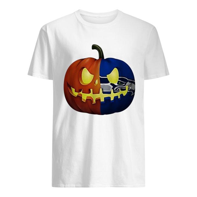 Seattle Seahawks pumpkin Halloween Classic Men's T-shirt