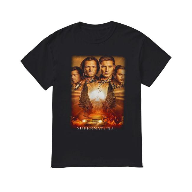 Supernatural The Winchesters final season characters signature Classic Men's T-shirt