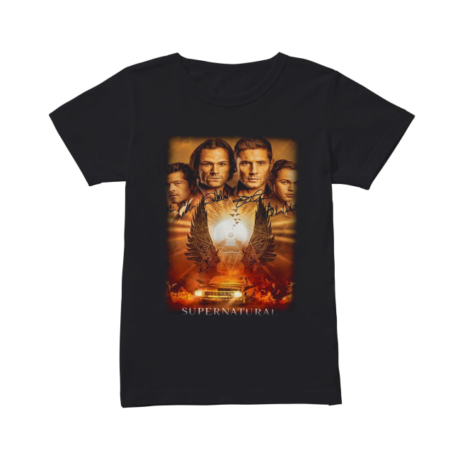 Supernatural The Winchesters final season characters signature Classic Women's T-shirt