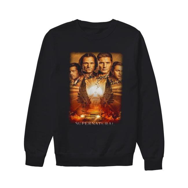 Supernatural The Winchesters final season characters signature Unisex Sweatshirt