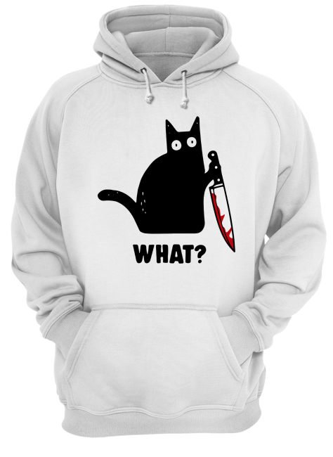 What Black cat hold knife Unisex Hoodie