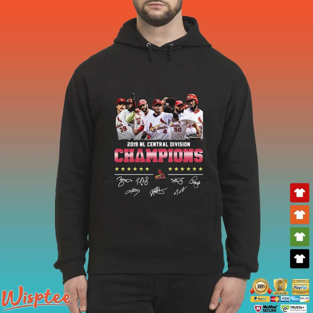 2019 Nl Central Division Champions Cardinals Signature Shirt