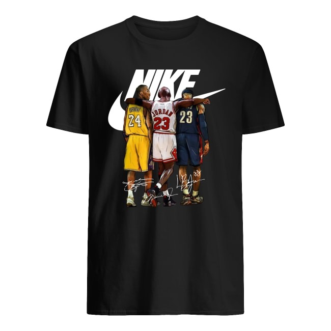 Kobe Bryant, Michael Jordan and LeBron James Nike signatures shirt