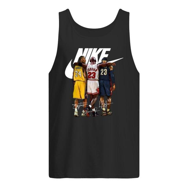 Kobe Bryant, Michael Jordan and LeBron James Nike signatures shirt