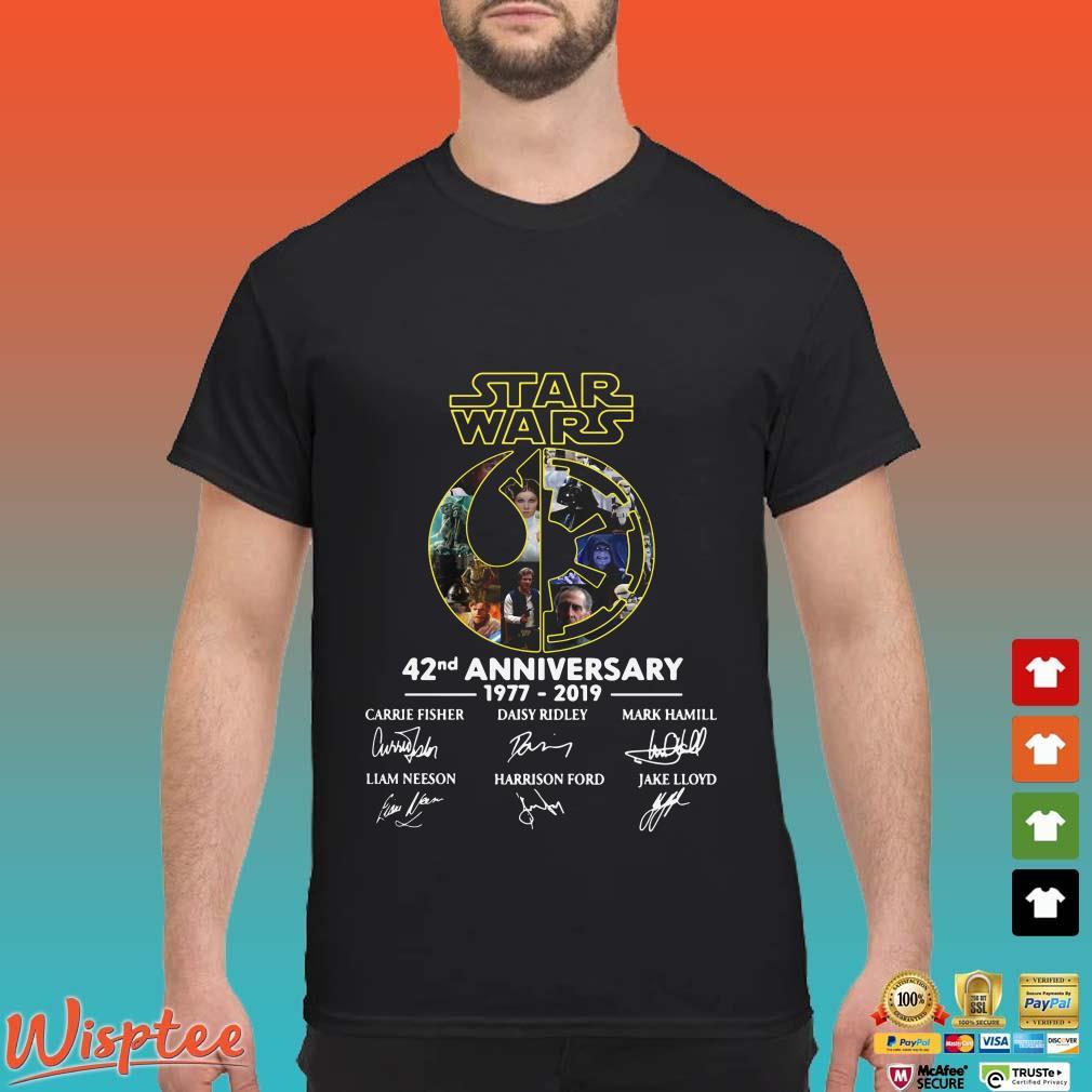 Star Wars 42nd anniversary 1977 2019 signatures shirt