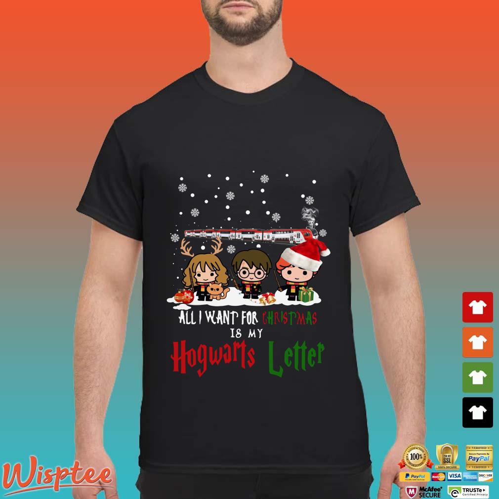 Harry Potter Hermione And Son All I Want For Christmas Is My Hogwarts Letter Shirt