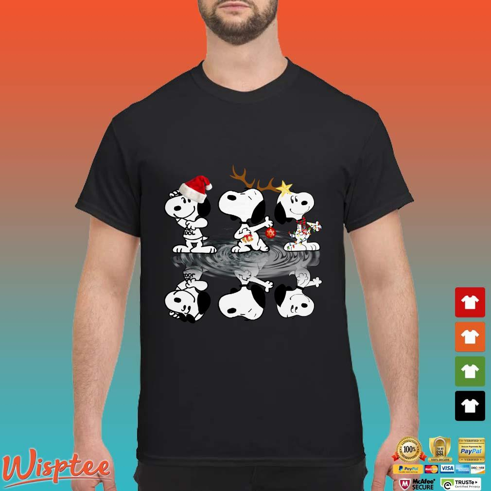 Snoopy Christmas Lights Water reflect shirt