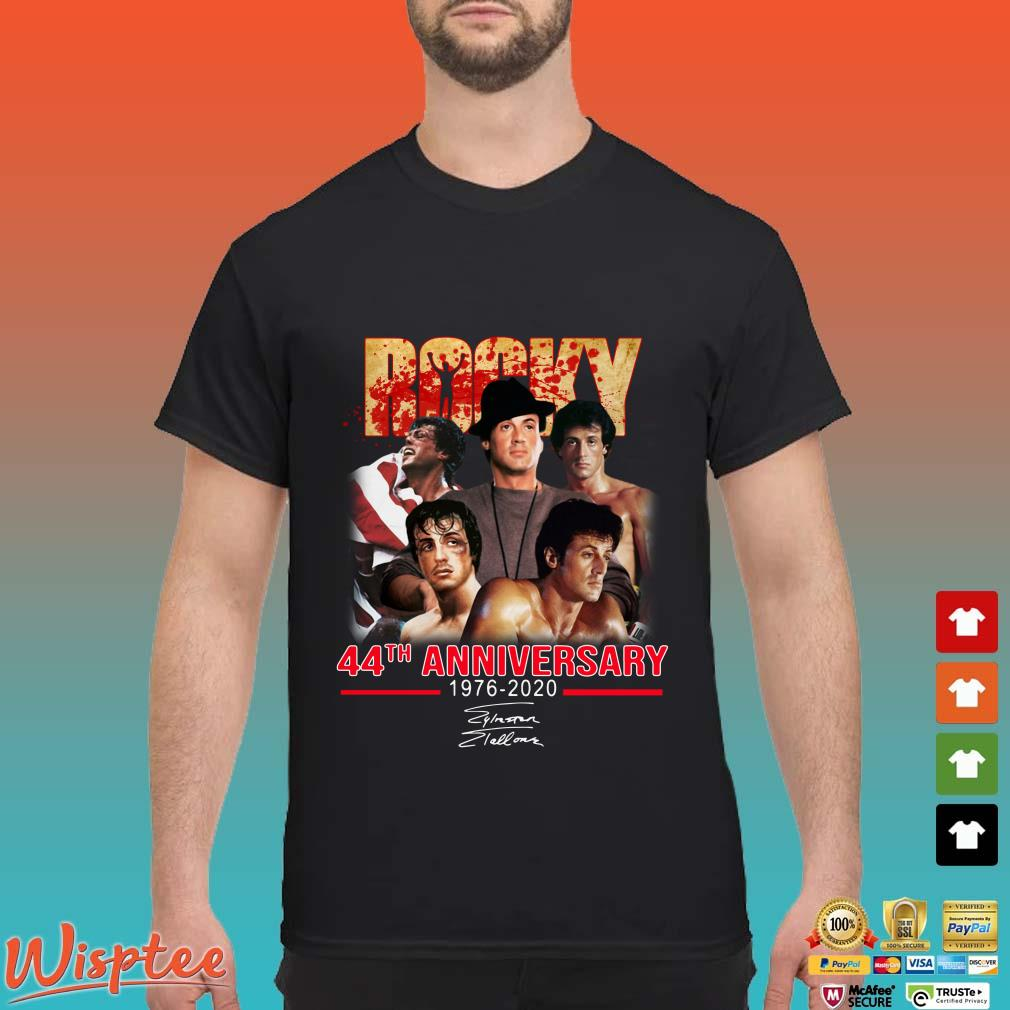 Rocky 44th anniversary 1976 2020 signature shirt