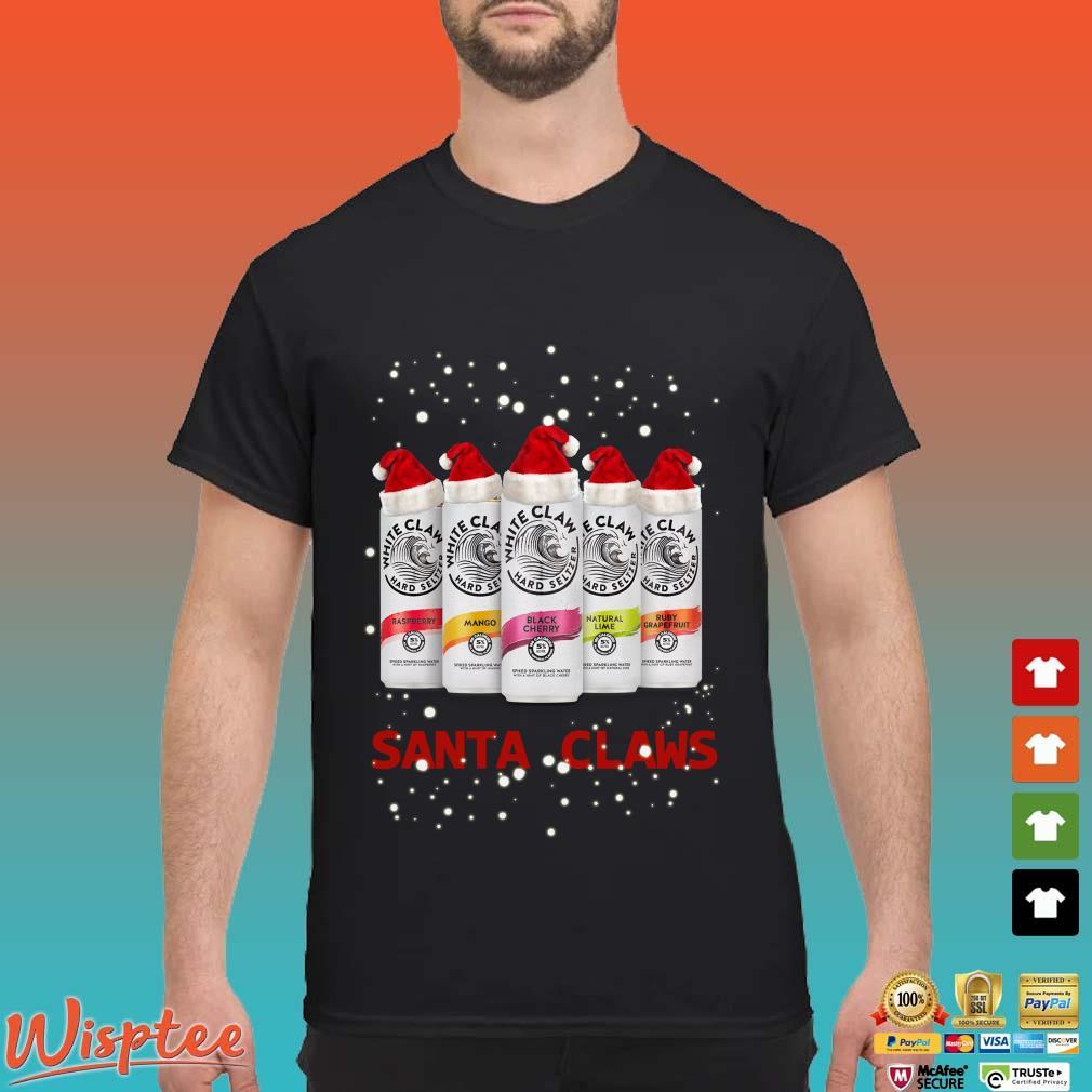Santa Claws White Claw Hard Seltzer Christmas Shirt