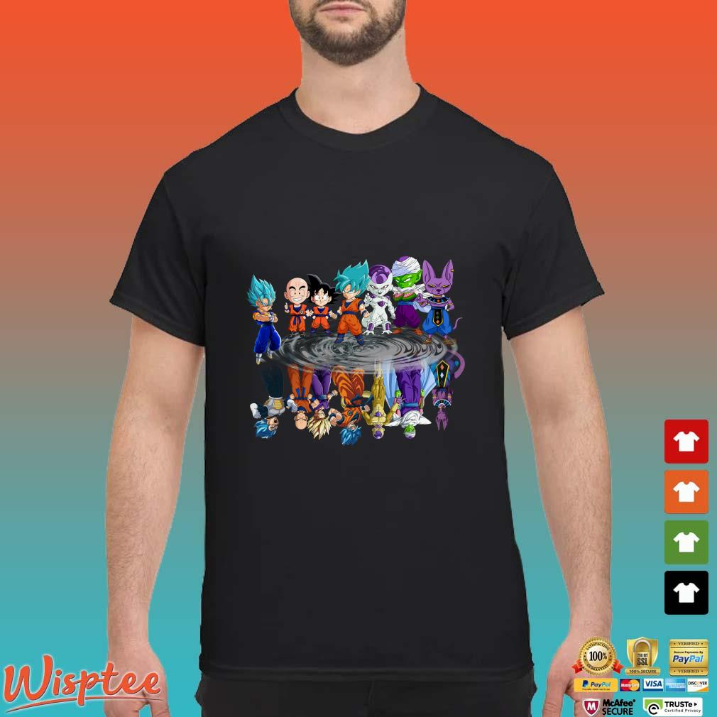 Dragon Ball Z Chibi Water Reflection Mirror Shirt
