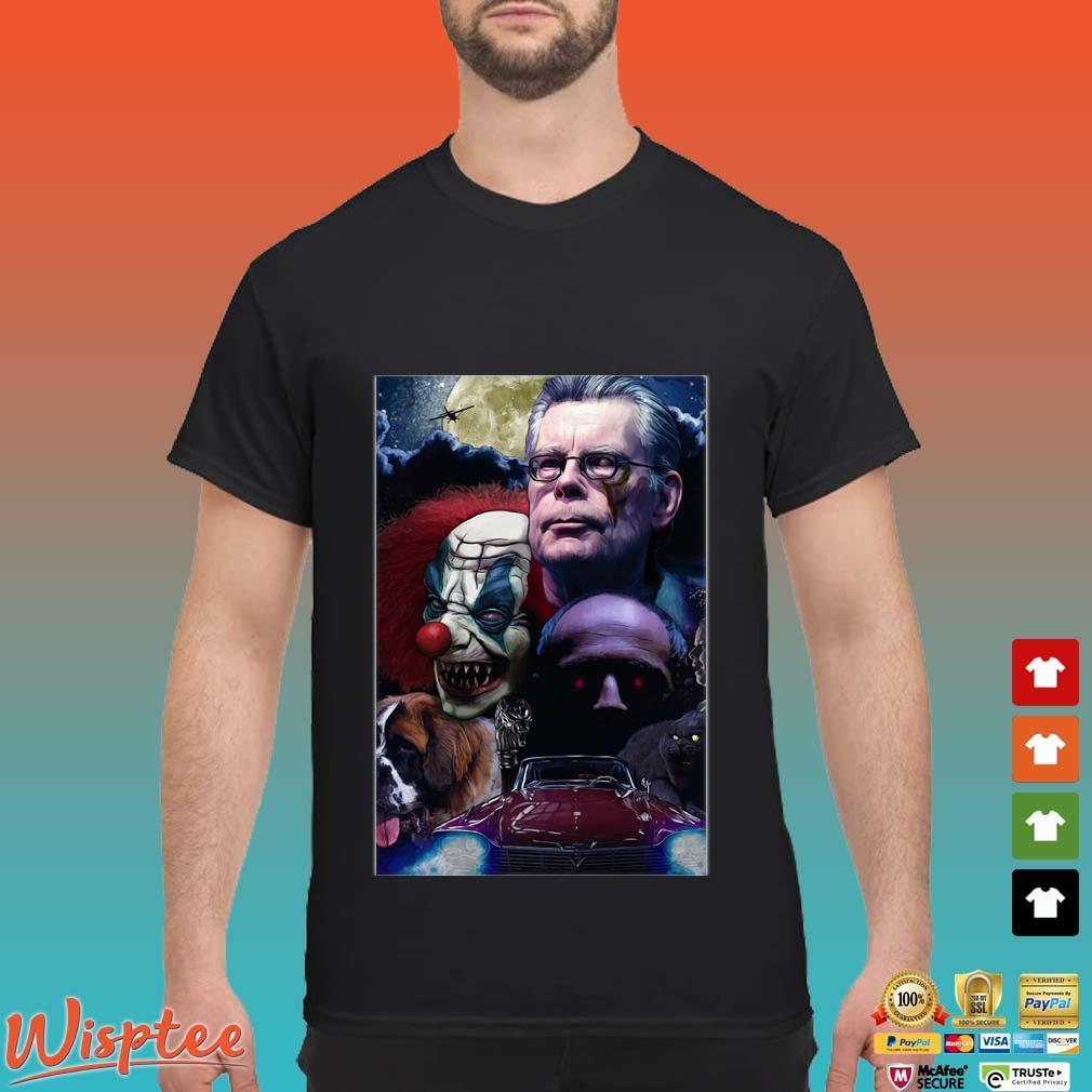 Stephen King Horror King Writers Shirt