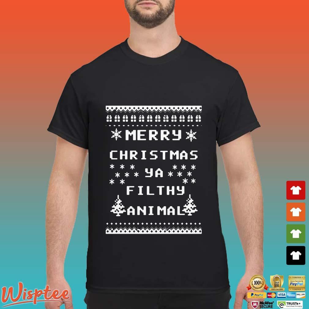 Merry Christmas Ya Filthy Animal Shirt.Merry Christmas Ya Filthy Animal Shirt