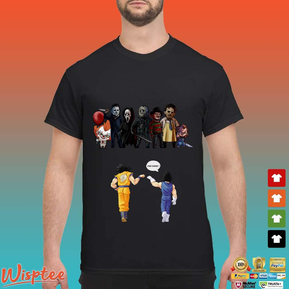Songoku and Vegeta vs Horror Characters End Game shirt