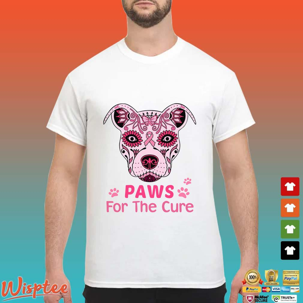 Pitbull Paws For The Cure Breast Cancer shirt
