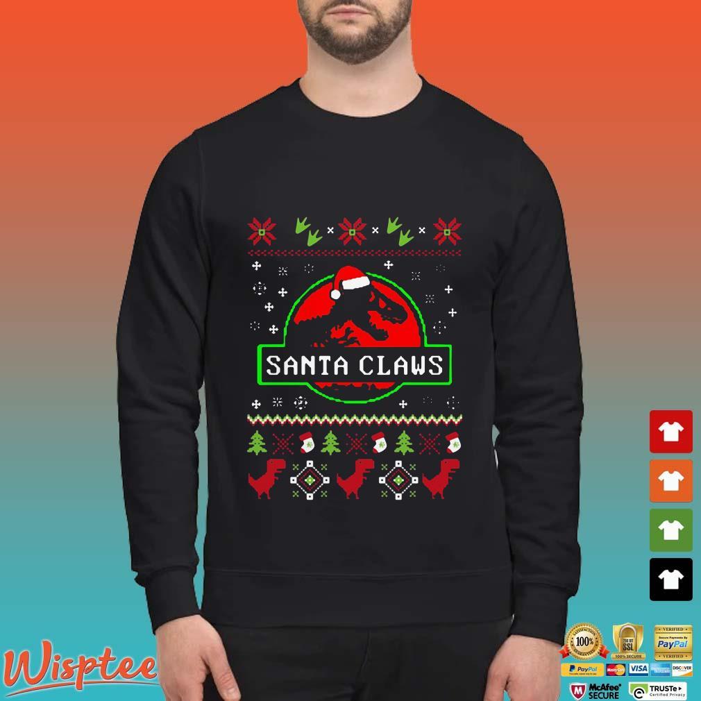Santa Claws Jurassic Park Ugly Christmas Shirt