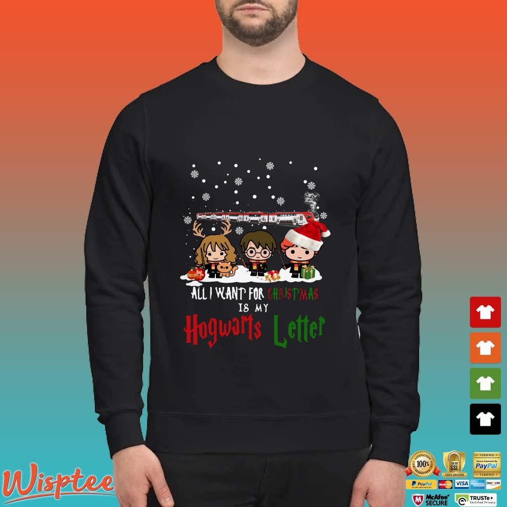 Harry Potter Christmas Shirt.Harry Potter Hermione And Son All I Want For Christmas Is My Hogwarts Letter Shirt