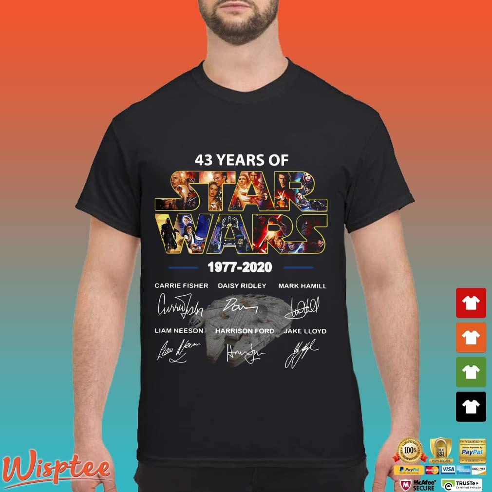 43 Years Of Star Wars 1977-2020 Signatures shirt