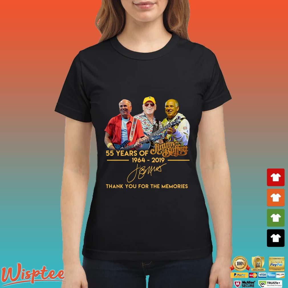 55 Years Of Jimmy Buffett 1964 2019 Thank You For The Memories Shirt
