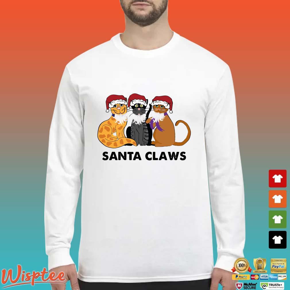 Cats Santa Claws Christmas Shirt