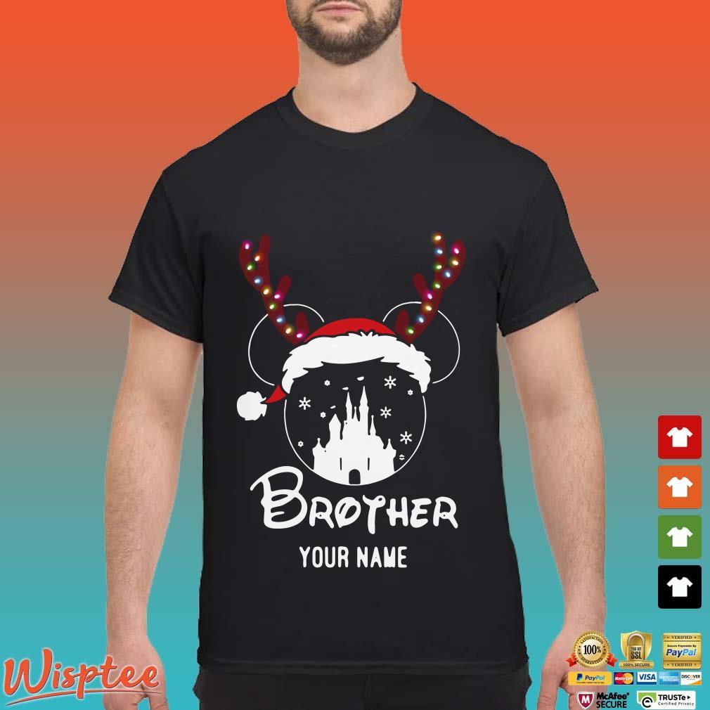 Personalized Mug Mickey Brother Disney Castle Christmas 2020 Shirt
